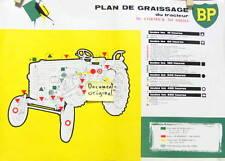 1960 TRACTEUR AGRICOLE Mc CORMICK 265 DIESEL PLAN DE GRAISSAGE ORIGINAL BP