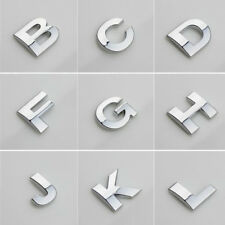Car 3D (A-Z) LOGO DIY Metallic Alphabet Sticker Emblem Letter Badge Decal Chrome