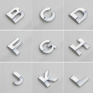 Car 3D (A-Z) LOGO DIY Metallic Alphabet Sticker Emblem Letter Badge Decal Chrome