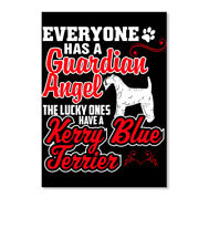 The Lucky Ones Have A Kerry Blue Terrier Sticker - Portrait