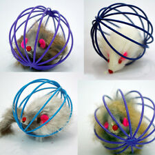 Funny Gift Play Playing Toys False Mouse in Rat Cage Ball For Pet Cat Kitten MW