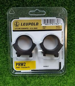Leupold PRW2 30mm, Low Scope Rings, Matte Black - 174083