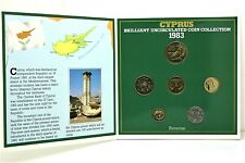 1983 Uncirculated Cyprus Coin Set - 6 Coins - Royal Mint