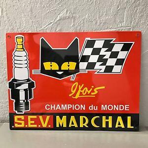 MARCHAL METAL SIGN VINTAGE GARAGE CAR 1910202