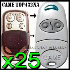 LOT DE 25 TELECOMMANDE CAME TOP432 - NA / COPIEUSE GARAGE À DISTANCE COMPATIBLE