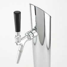 Draft Beer Faucet Spout Extension - Chrome Plated Brass - Kegerator Growler Fill
