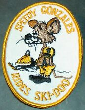 VINTAGE SKI-DOO SNOWMOBILE PATCH SPEEDY GONZALEZ RIDES SKI-DOO NEW  (801)