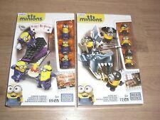 Minions Shark Bait und Vampire Surprise Mega Bloks Playsets mit 141 Teilen NEU