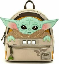 Loungefly Star Wars Baby Yoda Backpack - Gray/Green