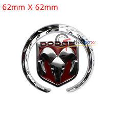 (1) 3D Metal Car Red Body Rear Boot Truck Lid Emblem Badge Sticker for Dodge