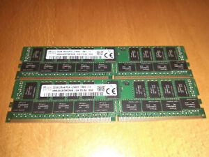 64Go RAM, 2 barrettes de 32 Go DDR4 HMA84GR7MFR4N 2400T