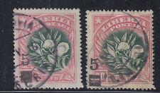 Liberia # 138 USED 1915-16 Surcharge Flora Pepper Plant Block & Bars Obliterator