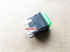 1 piezas NOVA KAN-L6 Pulsador Interruptor 3 Pines 12A 250VAC Verde Lámpara Autobloqueante