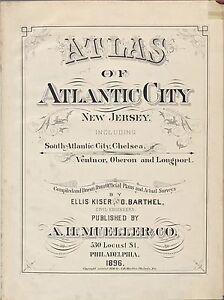 1896 A.H. MUELLER, ATLANTIC CITY, NEW JERSEY, TITLE PAGE, COPY PLAT ATLAS MAP