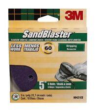 3M SandBlaster Sanding Discs, 60-Grit, 5-Inch, 10-Pack