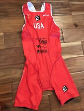 New listing Women's Medium Xceed Elite Triathlon ITU Suit New USA Red