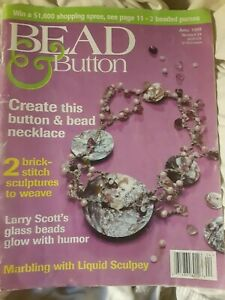 BEAD & BUTTON Magazine 1998 April Issue #24 Jewelry Craft
