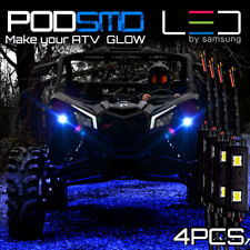 PODS Blue LED Lights Rock Light ATV UTV for Can-Am Four Pieces
