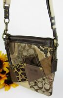 Coach Patchwork Messenger Swingpack Crossbody Bag Adjustable Strap F0849-42070