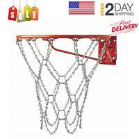 Outdoor Basketball Net for Rim Heavy Duty Chain Chains Metal Link Hoop Steel NEW
