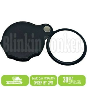 10X POCKET SIZE LOUPE MAGNIFYING GLASS JEWELLERY SMALL PRINT READING MAGNIFIER