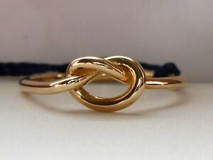 NEW Petite Italian Knot Ring Band- Yellow 14k Gold- Size 7.25