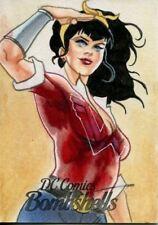 DC Comics Bombshells Sketch Card 1/1 By Carlos Cabaleiro