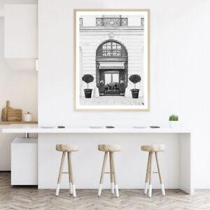 NEW 31 Rue Cambon B&W II Unframed Premium Wall Art Print | Black White Artwork