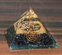 Nero Tormalina Gemma Orgone Piramide Om Chakra Simbolo Generatore Di Energia