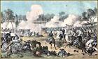 Currier & Ives | The Battle of The Wilderness VA.  Art Print