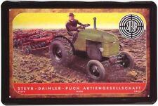 Blechschild 20x30 STEYR Daimler Puch Wien Traktor Bulldog Werbung Metall Schild