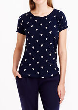 NWT J.CREW Womens Vintage Cotton Gold HeartsTee T-shirt Size S