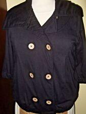 Quiksilver Roxy Women's Heather Jacket BLACK Lined COTTON Coat XS