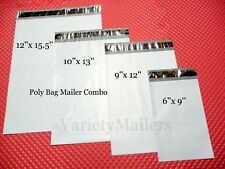 36 Poly Bag Shipping Envelope Mailer Variety Pack 12x15.5 10x13  9x12  6x9