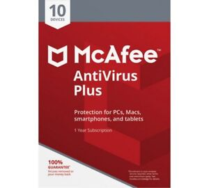 Download McAfee Antivirus PLUS 2021 Ten Devices 1 Year WINDOWS ANDROID