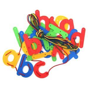 Lacing Letters Lower Case Plastic (26) - 11 cm -  Alphabet Learning Children