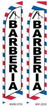 Barberia Flutter Feather Flag Swooper Advertising Sign Banner