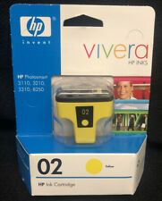 HP Vicera C8773WN Yellow 02 Ink Photosmart 3110 3210 3310 8250 ***Expired***