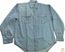 Unbranded Denim Solid Casual Shirts for Men