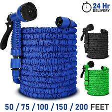 More details for 50ft-200ft garden hose pipe expandable compact flexible stretch water spray gun