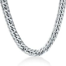 Hip Hop Men's Boy Stainless Steel Silver Hexagon Curb Chain Necklace Jewelry