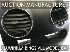 VW New Beetle 1998-2010  Polished Aluminium Chrome Air Vents Rings Surrounds x4