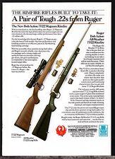 1993 Ruger 77/22 Magnum & All-Weather Rimfire Rifle Ad British Uk Advertising
