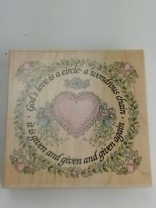 God's Love is a Circle Large Rubber Stamp Wood Mounted
