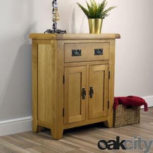 Arklow Oak Small Sideboard / Solid Mini 2 Door 1 Drawer Cupboard / Brand New