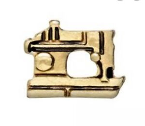 Authentic Origami Owl GOLD SEWING MACHINE Floating VINTAGE LOOK Charm BRAND NEW