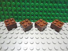 Lego 4 Reddish Brown 2x2 brick block New