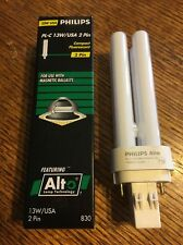 1~13w  Philips Alto PL-C13w/830. GX23.2  2 Pin. Double tube. PL-C 13W/USA. NIB
