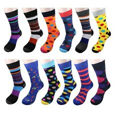 Gelante men's Funky Fashion Dress Socks Casual Cotton 12 Pairs size 10-13