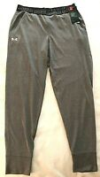 Under Armour HeatGear Womens Activewear Pants Heather Gray Size Small Logo NWT